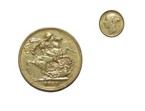 PRE OWNED 1883 FULL SOVEREIGN 22CT GOLD COIN   QUEEN VICTORIA