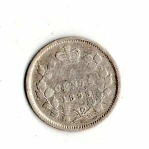 1893 CANADA 5 CENTS SILVERCOIN    7000