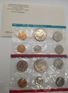 1971 UNCIRCULATED MINT SET PACKAGING ERROR  2  1971 S CENTS NO 1971 P CENT