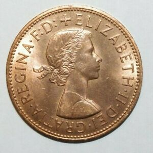 1965 LARGE PENNY GREAT BRITAIN UNC / OR HIGH GRADE AND HIGH VALUE COIN