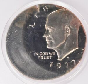 Click now to see the BUY IT NOW Price! PCGS $1 1977 S PROOF IKE DOLLAR STRUCK 30  OFF CENTER PR68 DCAM