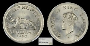 Click now to see the BUY IT NOW Price! BRITISH INDIA 1946B PATTERN PROOF NICKEL HALF RUPEE NGC PF 65 TOP POP