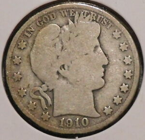 BARBER HALF   1910 S   HISTORIC SILVER    $1 UNLIMITED SHIPPING