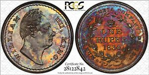 Click now to see the BUY IT NOW Price! BRITISH INDIA EAST INDIA COMPANY WILLIAM IV 1834 PATTERN RUPEE PCGS PR65 SUPERB