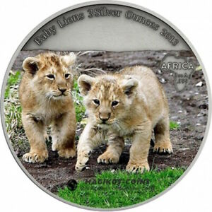 Click now to see the BUY IT NOW Price! 2013 CONGO SILVER BABY LION CUBS COLORED .999 FINE NGC MS 70 200 MINTED POP 2