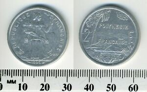 FRENCH POLYNESIA 1996   2 FRANCS ALUMINUM COIN   SEATED LIBERTY