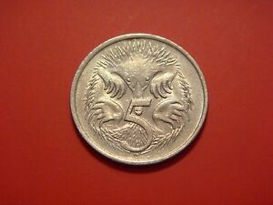 AUSTRALIA 5 CENTS 1979 ANTEATER ANIMAL COIN