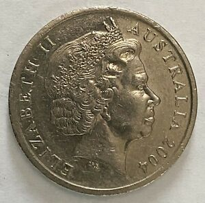 2004 AUSTRALIA 10 CENT ELIZABETH II FOURTH PORTRAIT CIRCULATED COIN   1861