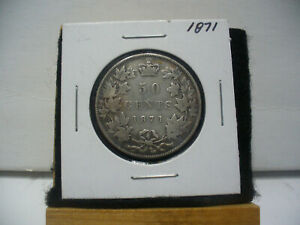 Click now to see the BUY IT NOW Price! 1871  CANADA  SILVER  HALF  DOLLAR  50 CENT PIECE   71  NICE GRADE  SEE PHOTOS