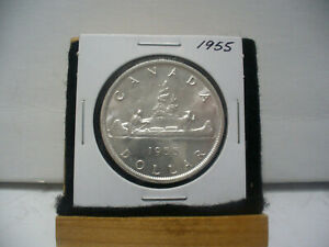 Click now to see the BUY IT NOW Price! 1955  CANADA  SILVER DOLLAR  COIN   NICE GRADE  SEE PHOTOS   55   NICE GRADE