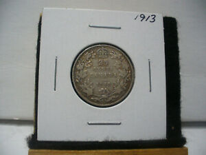 Click now to see the BUY IT NOW Price! 1913  CANADA   SILVER   QUARTER  DOLLAR  25 CENTS   13  NICE GRADE    STERLING