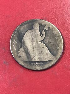 1877 UNITED STATES SILVER SEATED LIBERTY HALF DOLLAR COIN