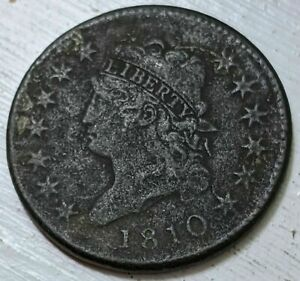 1810 CLASSIC HEAD LARGE CENT XF DETAILS
