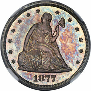 Click now to see the BUY IT NOW Price! 1877 20C NGC PF 65 CAM GEM PROOF PR CAMEO TWENTY CENT PIECE KEY DATE PROOF COIN