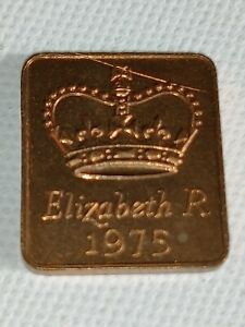 1975 ROYAL MINT PROOF YEAR MEDALLION MEDAL TOKEN   ELIZABETH II