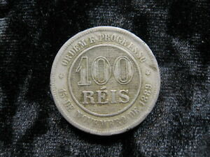 OLD WORLD FOREIGN COIN LOT BRAZIL 100 REIS KM492 1894  75