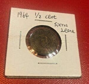 SIERRA LEONE COIN HALF 1/2 CENT 1964 BRONZE WORLD COIN