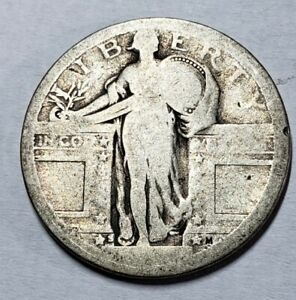 1917 S TYPE 1 STANDING LIBERTY QUARTER  NO DATE OTHERWISE STRONG DETAILS
