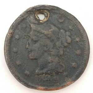1849 PHILADELPHIA MINT COPPER BRAIDED HAIR LARGE CENT CALIFORNIA GOLD RUSH YEAR