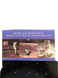 MARSHALL ISLAND FIRST MEN IN THE MOON $5 COMMEMORATIVE COIN