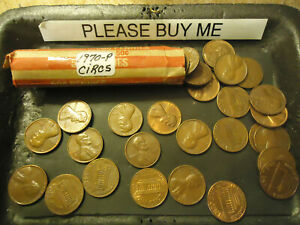 1970 P LINCOLN CENT ROLL        >> S & H   C/S <<
