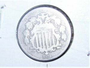 2 COINS 1872 SHIELD NICKELS  1  ERROR  DOUBLING ON C A  I IN AMERICA 1  CIR
