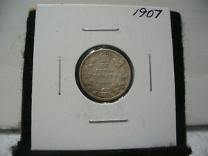Click now to see the BUY IT NOW Price! 1907  CANADA SILVER DIME   CANADIAN   10  CENT COIN  07  GOOD  GRADE