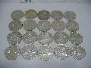 Click now to see the BUY IT NOW Price! LOT OF  20 1959  CANADA  SILVER  1$  ONE DOLLAR  COINS  SILVER  SEE PHOTOS