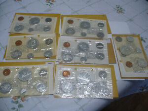 Click now to see the BUY IT NOW Price! LOT OF  7 1961 67  CANADA  SILVER   PROOF LIKE SETS  COINS  HIGH GRADES  SEALED