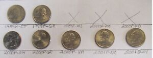 UNITED STATES STATE QUARTERS 7 PIECES LOT 92