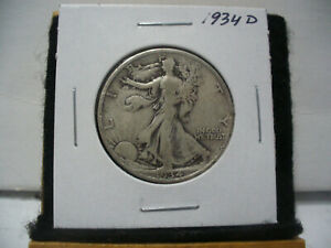 Click now to see the BUY IT NOW Price! 1934 D  WALKER  LIBERTY WALKING  HALF  DOLLAR      50 CENT PIECE   COIN  34D