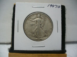 Click now to see the BUY IT NOW Price! 1947 D   WALKER  LIBERTY WALKING  HALF  DOLLAR      50 CENT PIECE   COIN  47D