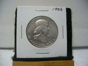 Click now to see the BUY IT NOW Price! 1956    BEN FRANKLIN   HALF  DOLLAR      50 CENT PIECE   COIN   56