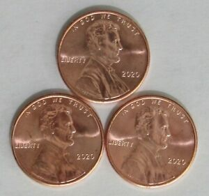 10  2020 P LINCOLN SHIELD CENTS BU PENNY US COINS UNCIRCULATED