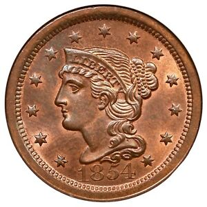 Click now to see the BUY IT NOW Price! 1845 N 10 R 2 NGC MS 66 RB CAC BRAIDED HAIR LARGE CENT COIN 1C