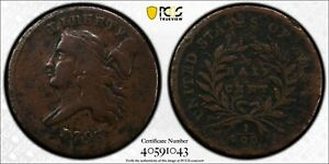 1793 LIBERTY CAP HALF CENT.R3