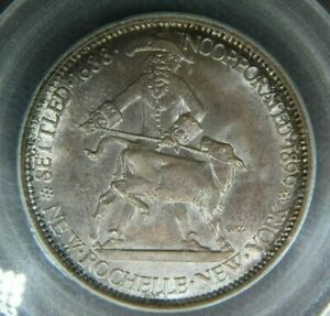 1938 PCGS MS65 NEW ROCHELLE UNCIRCULATED COMMEMORATIVE HALF DOLLAR 1/2 D