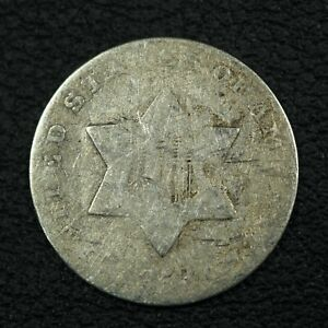 1853 SILVER THREE CENT PIECE