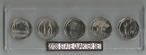 2013S UNCIRCULATED 5 COIN QUARTER SET IN PLASTIC HOLDER NICE GIFT