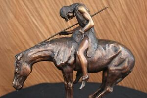 BEAUTIFUL JAMES EARLE FRASER END OF THE TRAIL BRONZE SCULPTURE  SIGNED ARTWORK