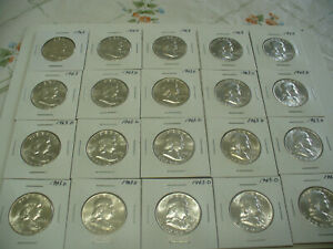 Click now to see the BUY IT NOW Price! LOT OF 20  USA  HALF DOLLAR SILVER COINS  50 CENT PIECES  1963  NO JUNK   LOT B