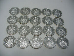 Click now to see the BUY IT NOW Price! LOT OF 20 1963  CANADA  HALF  DOLLAR  SILVER  COINS  63   50 CENT  PIECE