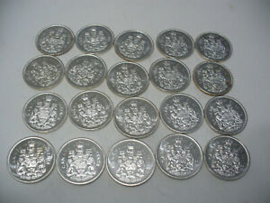 Click now to see the BUY IT NOW Price! LOT OF 20 1966  CANADA  HALF  DOLLAR  SILVER  COINS  66   50 CENT  PIECE