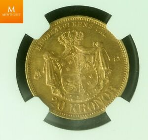 Click now to see the BUY IT NOW Price! 1876 ST SWEDEN 20 KRONOR NGC GRADED MS64