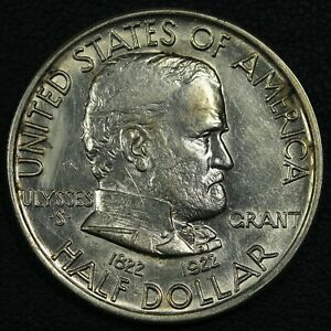 1922 GRANT SILVER COMMEMORATIVE HALF DOLLAR   CLEANED