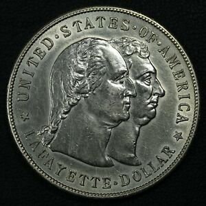 1900 LAFAYETTE COMMEMORATIVE SILVER DOLLAR   CLEANED