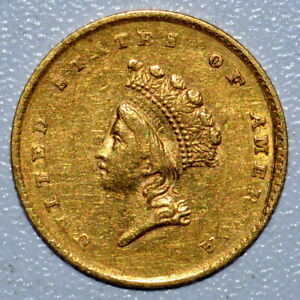 1854 $1 GOLD DOLLAR  XF EXTRA FINE DETAILS  G$1 CLEANED TYPE 2 T2 TRUSTED