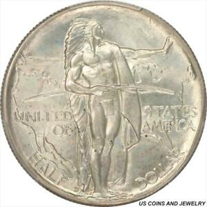 1937 D OREGON HALF DOLLAR SILVER COMMEMORATIVE PCGS MS66 FROSTY WHITE