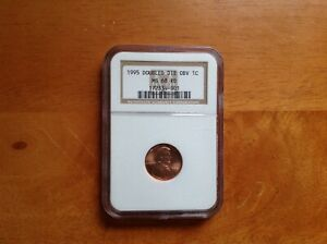 1995 LINCOLN MEMORIAL CENT DOUBLE DIE OBVERSE NGC CERTIFIED MS68RD