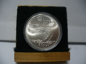 Click now to see the BUY IT NOW Price! 1976   MONTREAL  OLYMPICS   SILVER 5$ COIN   CANADA   DIVING   B.U.  STERLING